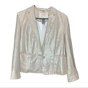 Anthropologie   Cartonnier Linen Shimmer Blazer